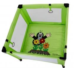 Ohrádka dětská skládací - Gmini - KRTEČEK zelená - 94x94cm