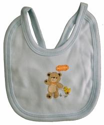 Bryndák dětský bavlna - MÉĎA S KAČKOU modrý - malý zavazovací