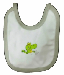 Bryndák dětský bavlna - CROCODILE bílý se šedou - malý zavazovac