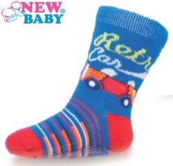 Ponožky kojenecké bavlna s ABS - AUTÍČKA modré - vel.11-12 (obuv a76829e70e