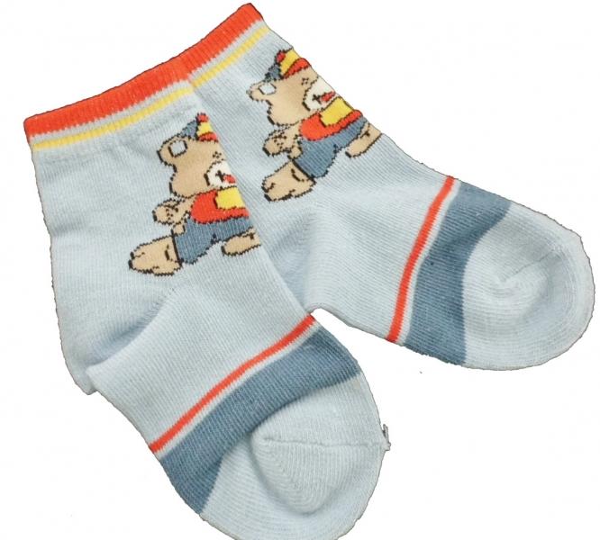 27845775f62 Ponožky kojenecké bavlna - MÉĎA S MÍČEM modré - vel.10-14měs.