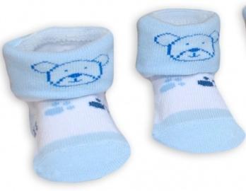 d491b8c0078 Ponožky kojenecké bavlna - MÉĎA modro-bílé - vel.0-6měs.
